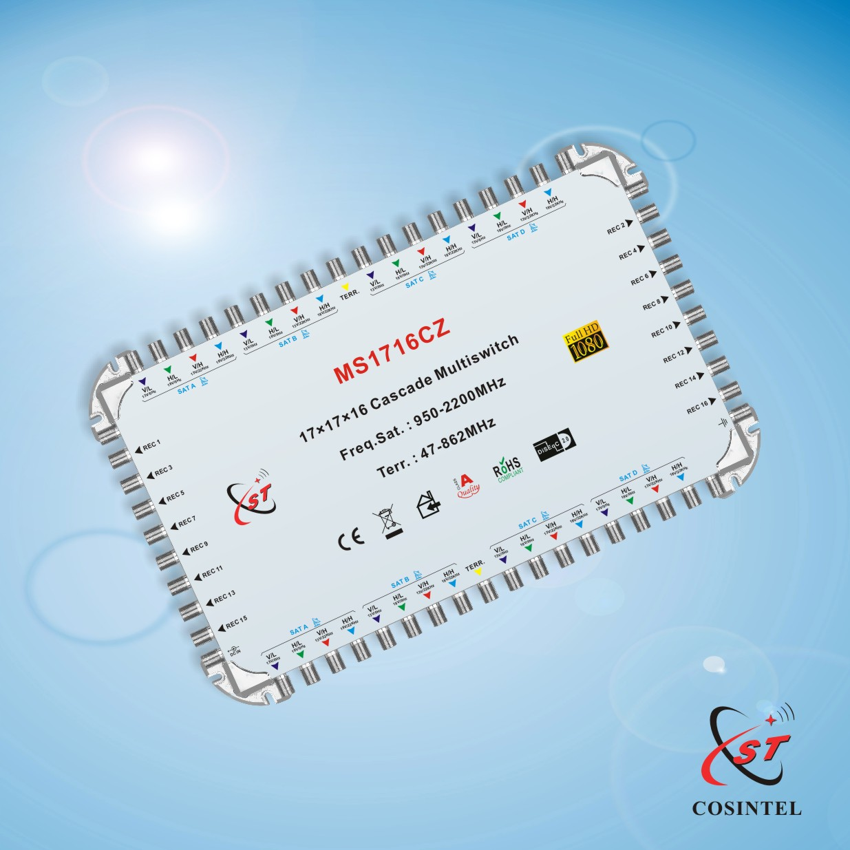17 in 16 Cascade Satellite Multi switch with Zinc Die-casting Housing
