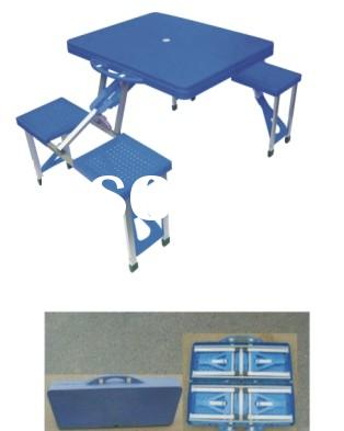 linked table & chair,folding table chairs,portable folding table