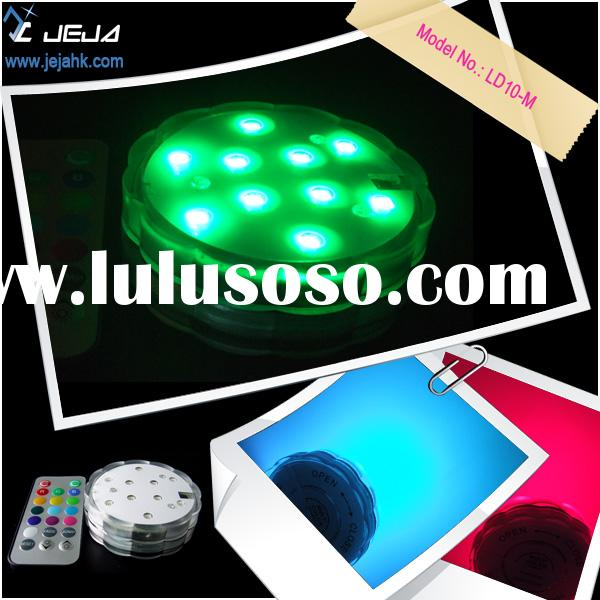 waterproof led light, led candle, vase lights, RGB color changing led light base