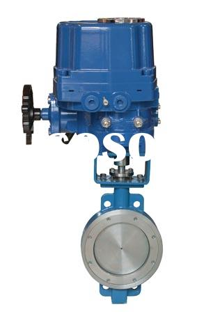 electric actuator eccentric butterfly valve