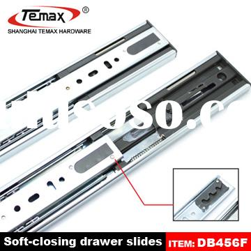 Full extension soft close drawer slides for furniture use