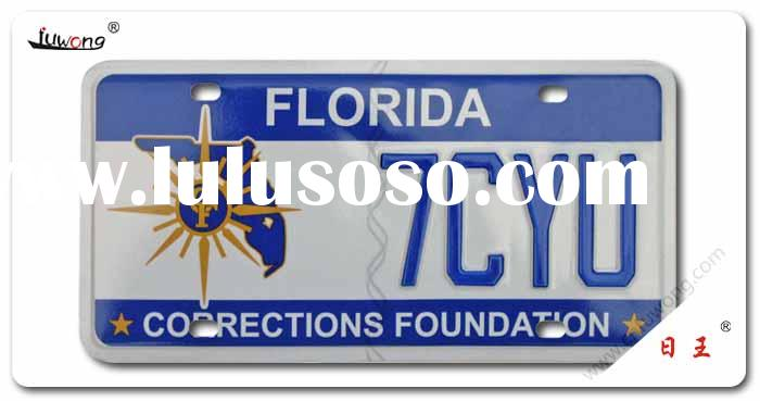 car plate, number plate, license plate for auto, motor, bike, electric vehicle in American, European