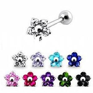 wholesale flower tongue ring body jewelry