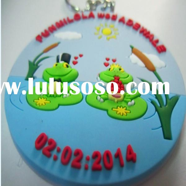 2014 newest design soft PVC key tag