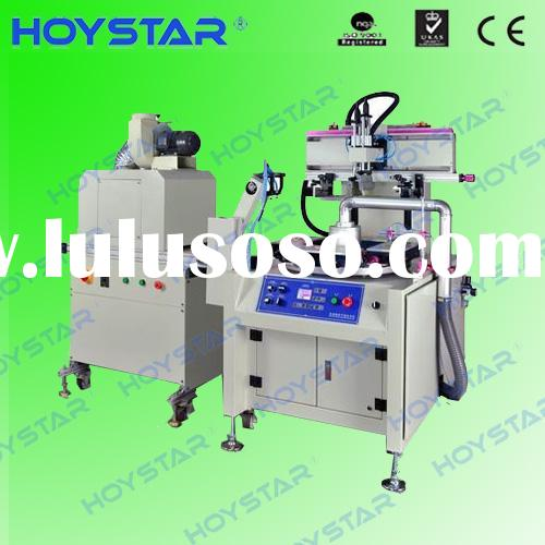 Full automatic plastic scale screen printing machine with uv dryer