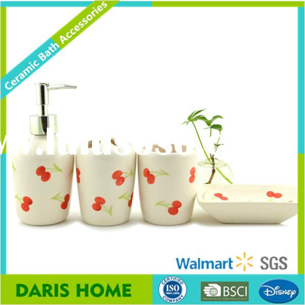 Popular ceramic bathroom accessories set