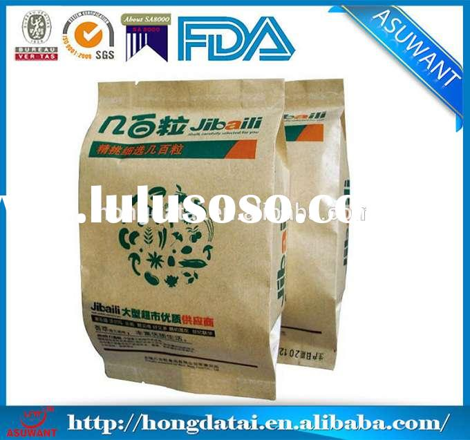 Gusseted Kraft Paper Food Packaging Bags