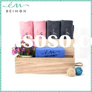 100% Korean cotton bamboo jacquard bath towel designs, beach towel
