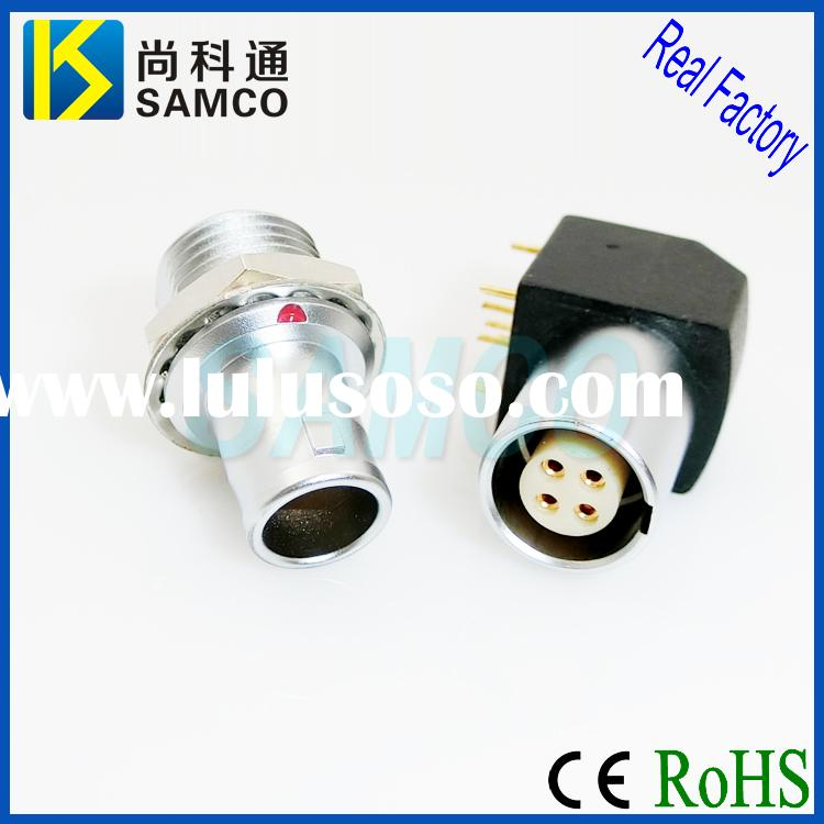 Lemo Compatible Metal Connector, Male/Female Push Pull Electrical Connector