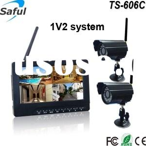 "TS-606C 1V2 saful 7"" TFT-LCD wireless CCTV camera 32GB mini SD card recording wireless baby mon"