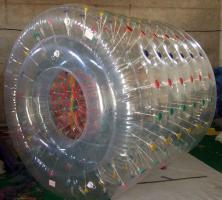 TPU colour Dot inflatable water roller for sale