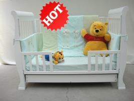 Wooden Sleigh baby cots & cribs