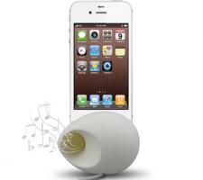 Silicone Egg Speakers for iPhone 4S/4
