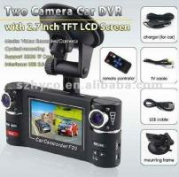 2.7inch display H.264 Night Vision Dual Camera wide angle G-sensor car dvr black box camera F20