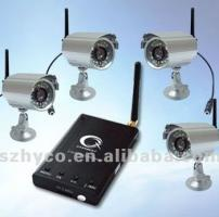 Long time recording IR night vision waterproof 2.4GHz wireless security camera system