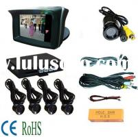 Car Rearview LCD Monitor with high definition camera and 4 rear sensors  (RD-729SC4)