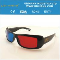 red blue plastic glasses stere...