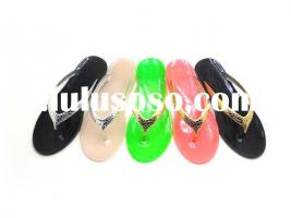 New Ladies Flat Jelly Bow Summer Sandals Womens Beach Shoes Flip Flop,Flats