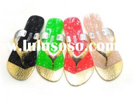 58-1New Ladies Flat Jelly Bow Summer Sandals Womens Beach Shoes Flip Flop,Flats