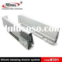 Soft close steel drawer slides