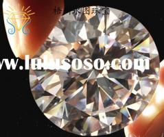 shinning round brilliant diamond cut cubic zirconia gems