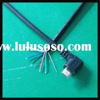 6 Wires Micro/MINI USB Cable with Strain Relief for PCB Box