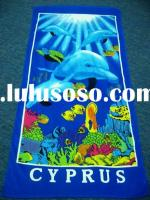 100% Cotton Full Reactive Printed Velour Beach Towel