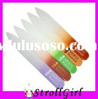 colorful glass nail file crystal permanent nail file colorful