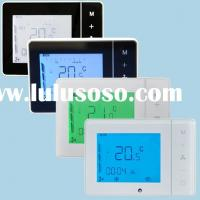 Touch Screen Electronic LCD Room Thermostat For Fan Coil
