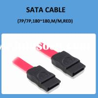 High Performance Sata Cable M/M Red
