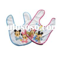 Promotional customized cartoon printed cotton baby bib