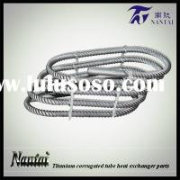 Rectangle Twisted Stainless Steel Pipe Titanium Tube for Heat Exchanger
