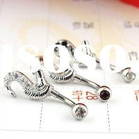 Hot Fashion Alloy Zircon Body Piercing Jewelry - Earrings , navel