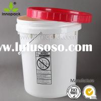 5 gallon plastic bucket with screw lid