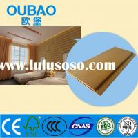 CE SGS ISO FSC certified 90 * 5mm formaldehyde-free wood plastic composite interior wall paneling