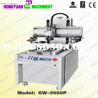 Flat vacuum silk screen printing machines with sliding worktable