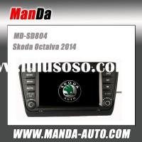 Manda 2 din hd touch screen car dvd player for VW Skoda Octaiva 2014 indash audio radio