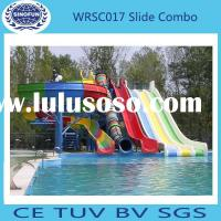 popular!! Large Outdoor Water Park Fiberglass Water Slides for sale