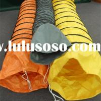 orange color ventilation flexible air duct, good quality and fire retardant flexible air duct