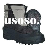 Grey kids fashion out door snow boots snow stomper