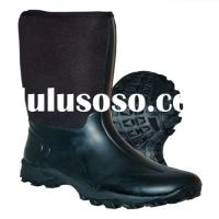 Neoprene and rubber boots with steel shank and EVA midsole