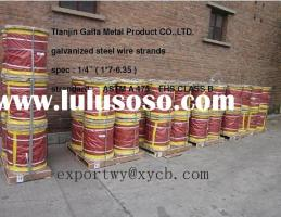 sell 1/4 inch galvanized steel strand ASTM A475 EHS