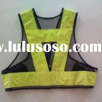 Yellow Reflective Safety Vest with High Visibility PVC Tape