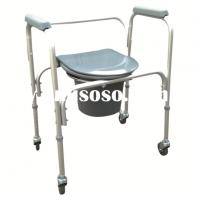 Folding commode chair with wheels folding commode chair - Mini commode plastique ...