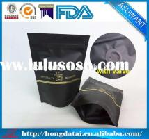 foil coffee bags with valve 16 Oz Side Gusset Coffee Bag With Valve