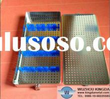 Perforated stainless instrument tray