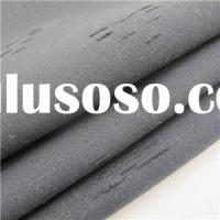 Yarn Dyed Jacquard Black Fabric 100% Cotton For Men's Shirt