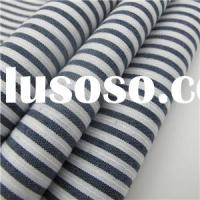 100% Cotton Black And White Stripe Shirt Fabric Of Chinese Factory