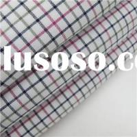 Cotton Spandex Oxford Yarn Dyed Plaid Fabric