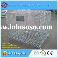 Factory Direct Stackable Collapsible Wire Mesh Pallet Container